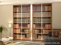 Панельная штора Книжный шкаф комплект 4 шт
