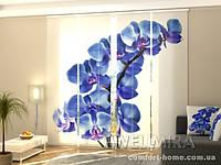 Панельная штора Голубая Орхидея комплект 4 шт