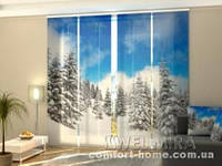 Панельная штора Зима в лесу комплект 4 шт