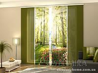 Панельная штора Парк тюльпанов комплект 4 шт