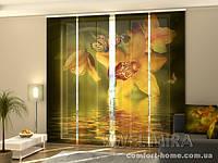 Панельная штора Нефритовые Орхидеи комплект 4 шт