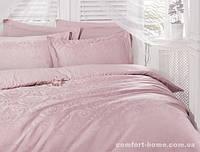 Постельное белье Deco Bianca сатин жаккард Розовый евро