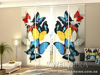 Панельная штора Красочные бабочки комплект 4 шт