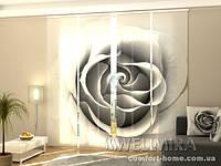 Панельная штора Серая роза комплект 4 шт