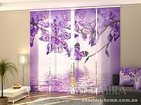 Панельная штора Фиолетовая Орхидея комплект 4 шт