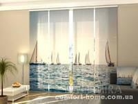 Панельная штора Море и парусники комплект 4 шт