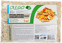 Кормовая добавка Olego рисовые и овсяные  хлопья с овощами и курицей, 3 кг