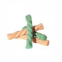 Лакомства - жевательные, спиралька MIX L (курица, зеленый чай), 128 мм