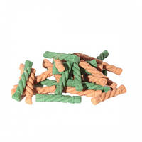 Лакомства - жевательные, спиралька MIX XS (курица, зеленый чай), 64 мм