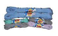 """Шнур комбинированный бытовой плетеный жесткий цветной d=3,8 (25м) ТМ """"Ткач"""""""