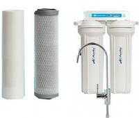 """Двойная система очистки воды """"aquakut FP-2E эконом"""", проточного типа ,2 ступени очистки"""