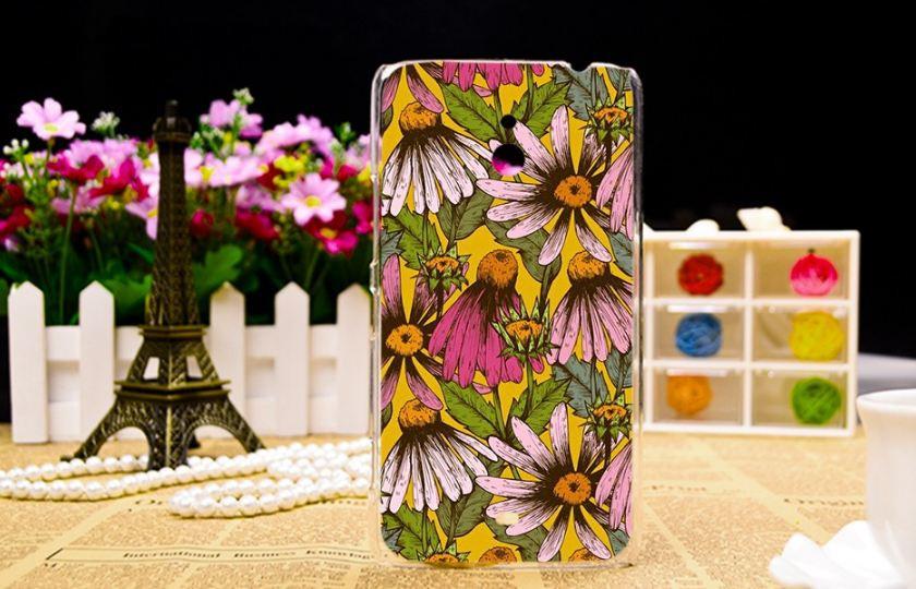 Силиконовый чехол накладка для Nokia Lumia 1320 с рисунком Цветочки
