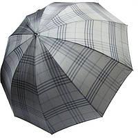 Зонт трость 10 спиц полуавтомат Bugatti 74162BU-2 Серый в клетку