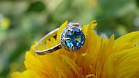 Серебряное кольцо серебряное с золотой вставкой