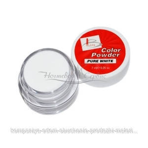 BLAZE Color Powder - цветная акриловая пудра, PURE COLOR WHITE, 7 мл