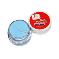 BLAZE Color Powder - цветная акриловая пудра, NEON BLUE, 7 мл