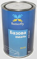 Автоэмаль базовая (металлик) Butterfly 1 л LADA 129, 1000, Краска, Металлик, Банка