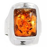 Янтарь Прибалтика, серебро 925, кольцо
