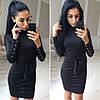 Очень красивое платье под горло с поясом, 2 цвета, фото 2