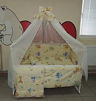 Комплект постельного белья для новорожденного бежевое Бэмби Bonna 9 в 1