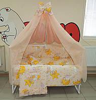 Детское постельное белье персик Мишки горох Bonna 9в1