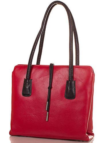 Женская красная кожаная сумка DESISAN (ДЕСИСАН) SHI062-1FL