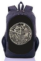 Рюкзак городской, спортивный с принтом часы.