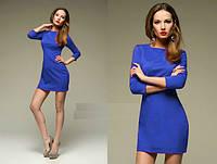 Платье синий электрик мини основа образа