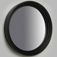 Зеркало круглое черное