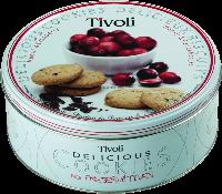 """Печенье Tivoli """"Клюква"""" 150г в жестяной банке"""