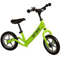 """Біговел дитячий 12"""" M 3146 PROFI KIDS колеса EVA, пласт. обід, гальмо, зелений"""