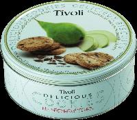 """Печенье Tivoli """"Груша"""" 150г в жестяной банке"""
