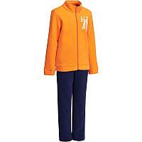 Спортивный костюм детский для мальчиков Domyos WARM'Y ZIP оранжевый