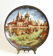 Былинный фарфор, тарелка настенная, Никитский монастырь, 1991 год, Юрий Дубовихов