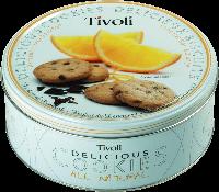 """Печенье Tivoli """"Апельсин"""" 150 г в жестяной банке"""