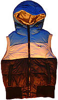 Куртка-безрукавка детская теплая, с капюшоном