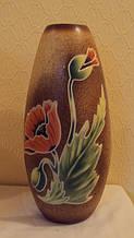 Ваза керамічна Маки висота 30 см