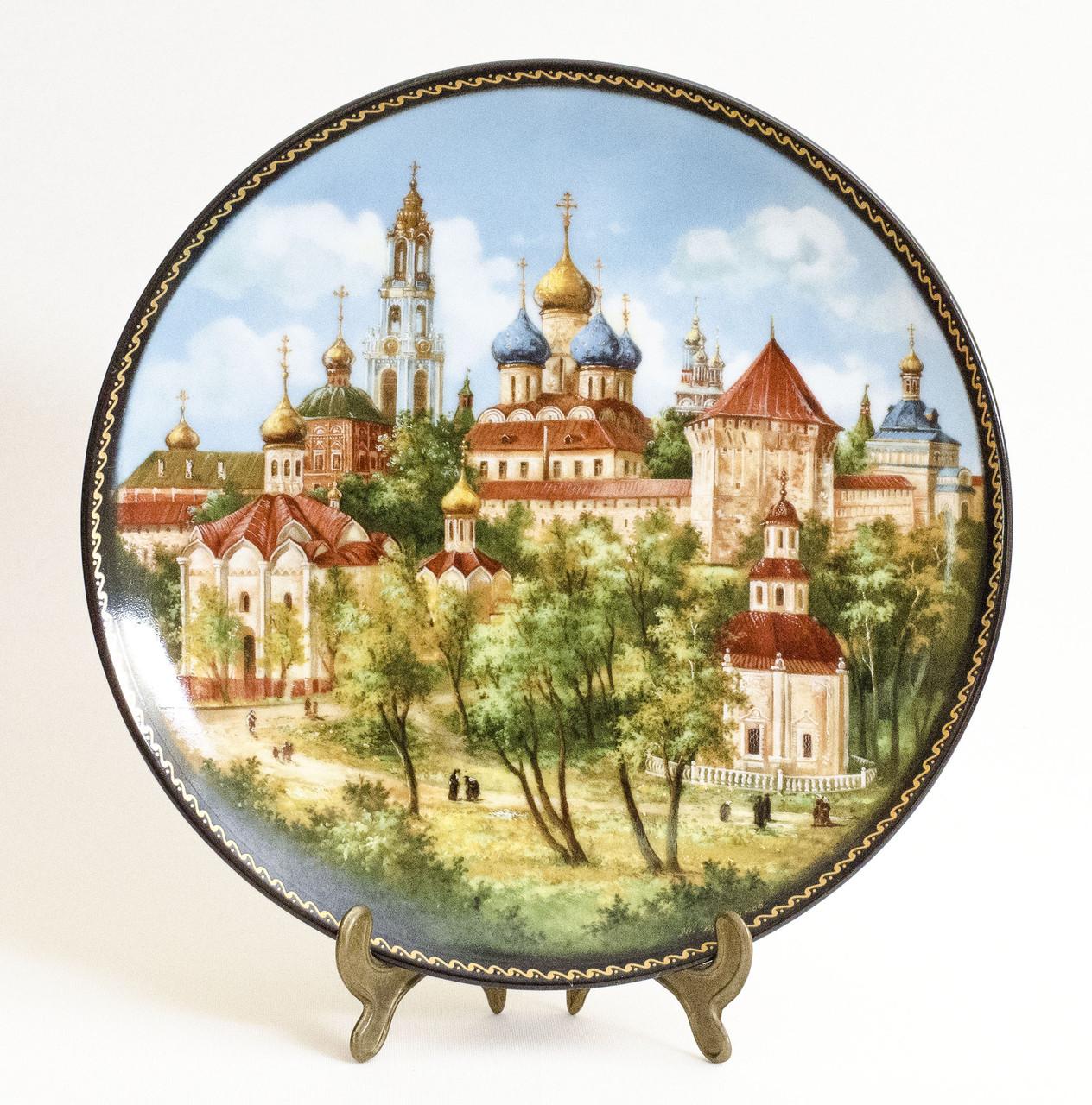 Фарфор, тарелка настенная, Троице-Сергиев Монастырь,1991 год, Юрий Дубовихов