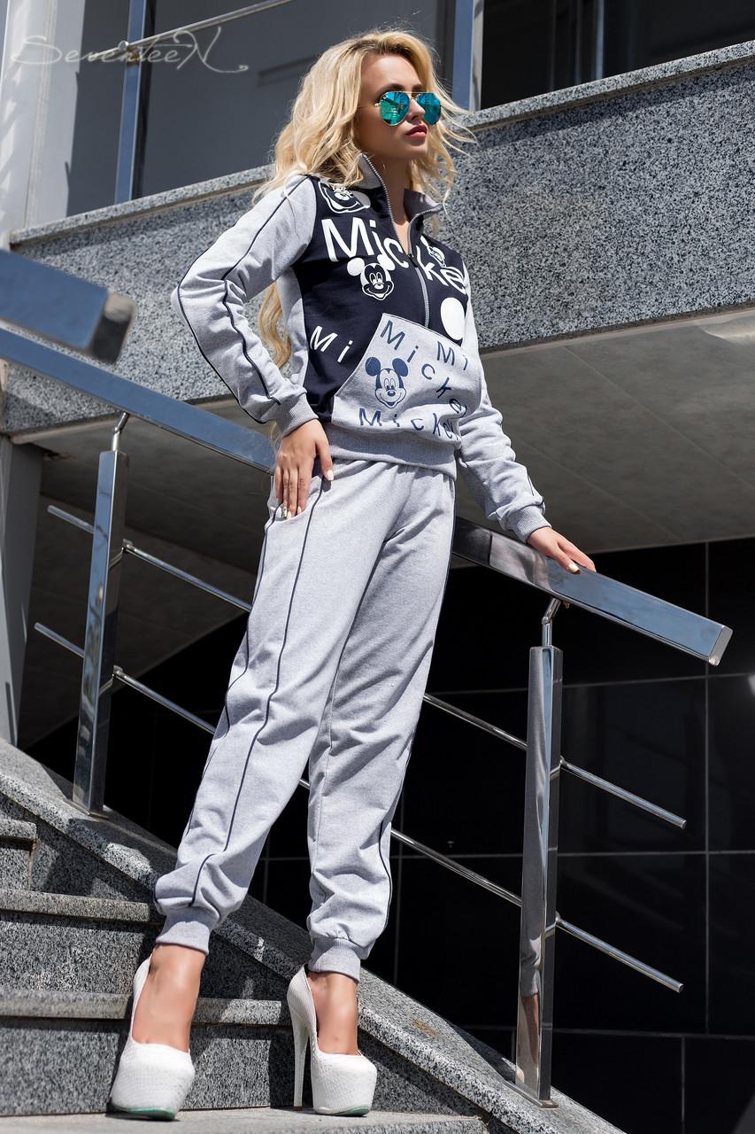 Модный женский спортивный костюм без капюшона 42-48 размеры, фото 1
