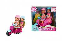 """Куклы Эви """"Веселое путешествие на скутере"""" со шлемами (573 0485)"""