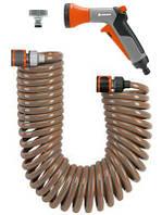 Cпиральный шланг Gardena 10 м в комплекте для мойки авто (04646-20.000.00)