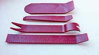 Набор инструментов для демонтажа обшивки, снятия клипс, 4 шт Бордо