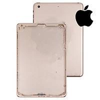 Задняя крышка для Apple iPad Mini 3 Retina (версия Wi-Fi), золотистая, оригинал