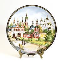 Фарфор, тарелка настенная Суздаль - сокровищница Золотого кольца, 1991 год, Юрий Дубовихов, фото 1