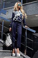 Модный женский спортивный костюм без капюшона 42-48 размеры