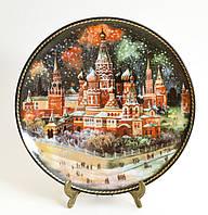 Фарфор, тарелка настенная Собор Василия Блаженного - Москва, 1991 год, Юрий Дубовихов, фото 1