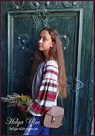 """Детская туника-блуза с вышивкой и натуральным кружевом """"Катерина"""". На замовлення"""