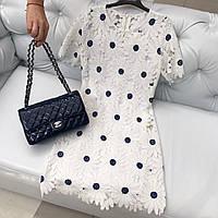 Платье белое кружевное ромашки