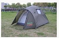 Удобная двухместная двухслойная палатка Green Camp 3006