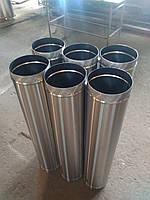 Труба дымоходная (нержавейка) 0,8 мм L- 0,5 м